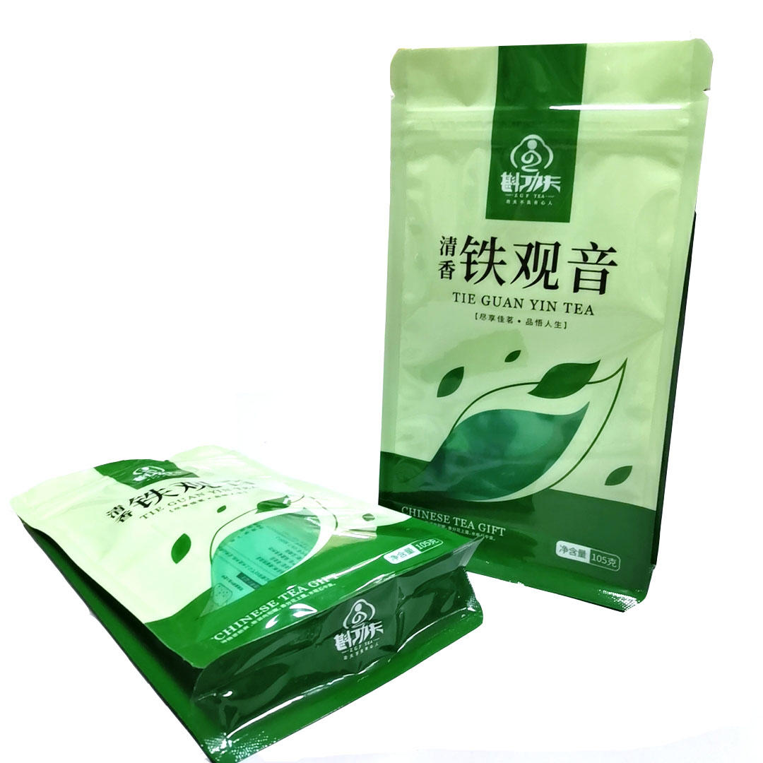 Keep Smell Laminated plastic packaging bags with windows for Tea/Snack
