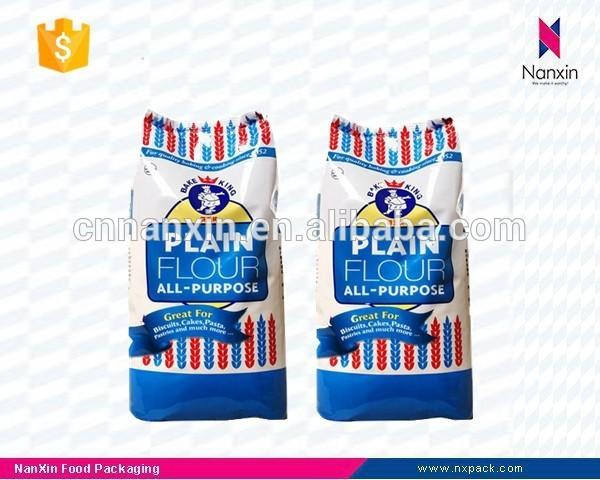 plastic food packaging bag flour packaging bag flat bottom pouch