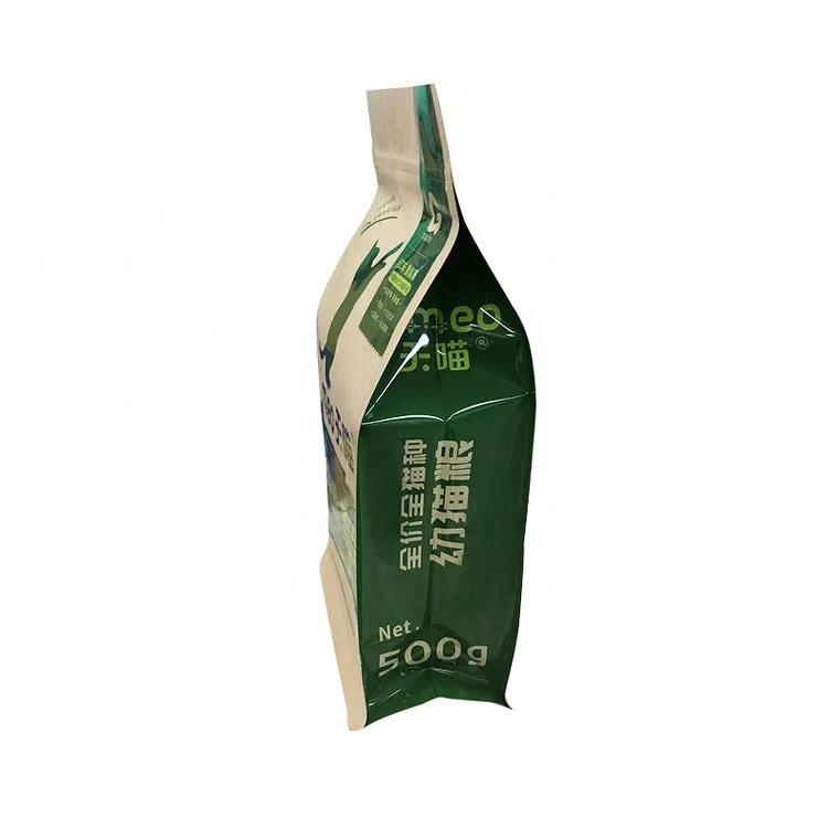 Customized kraft paper bag with zipper for Pet food