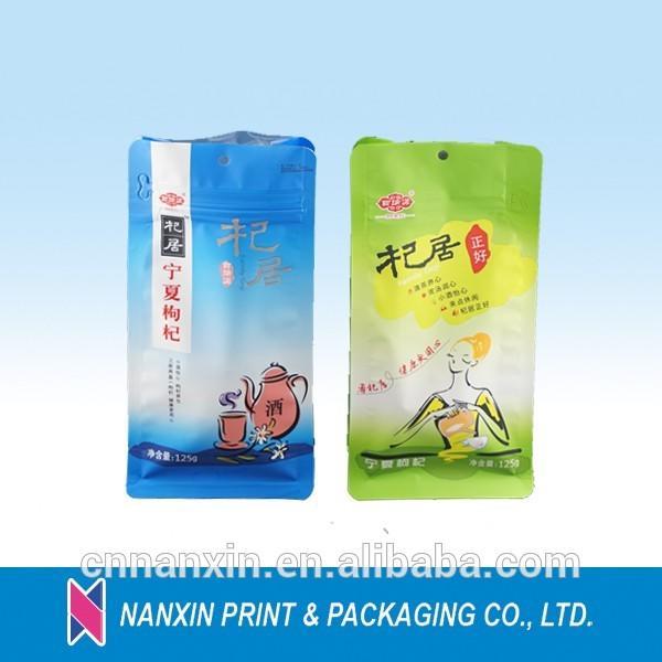 Customized logo print resealable zip lock aluminum foil flat bottom bag