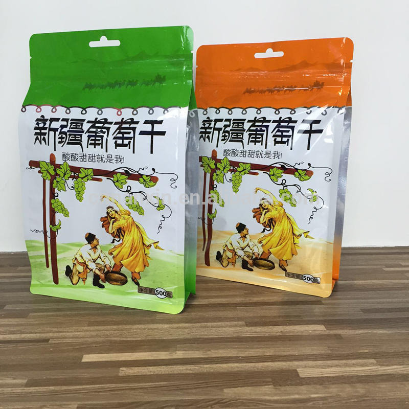 Flat bottom zipper stand pouch for packaging with side window