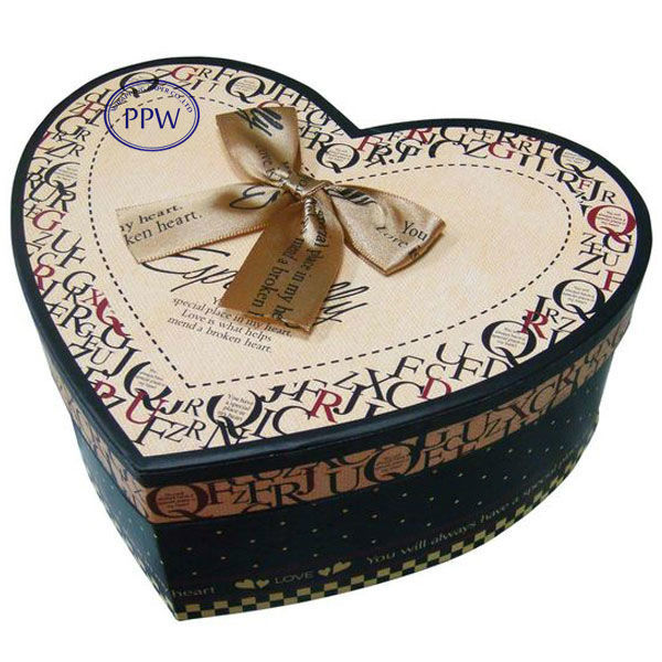 Paper boxchocolate heart shape paper gift packaging box