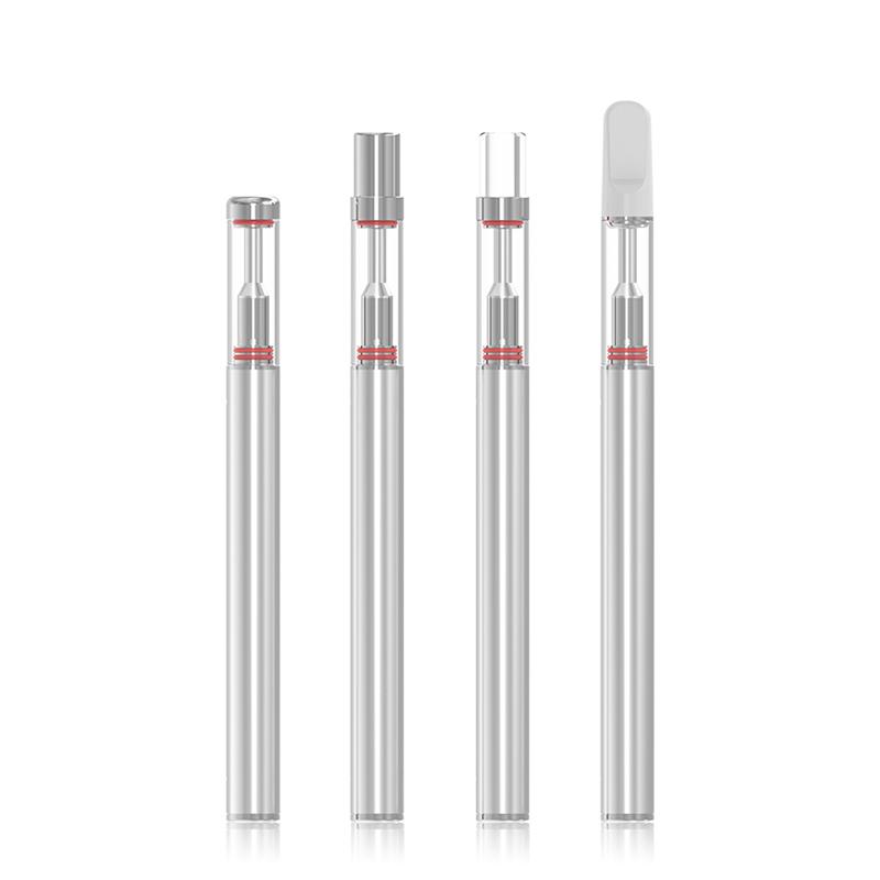 Glass mouthpiece cbd vape pen ceramic coils cartridge and battery vape kit without oil