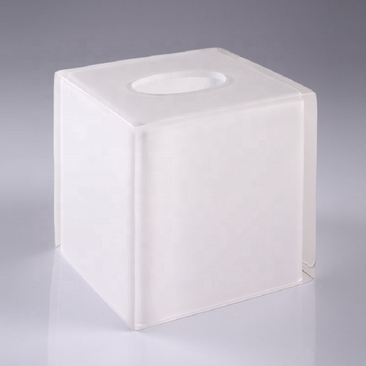 Luxury Hotel Supplies Transparent Resin Bathroom Complete Set Tissue Box