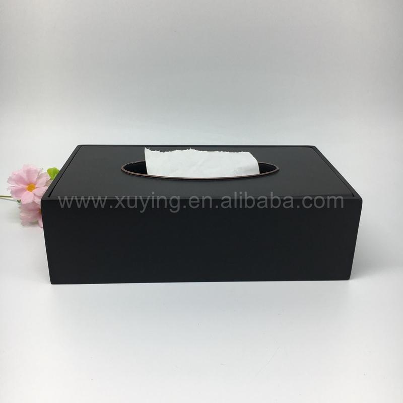 Luxury Matte Black Resin Hotel Decorative Tissue Box