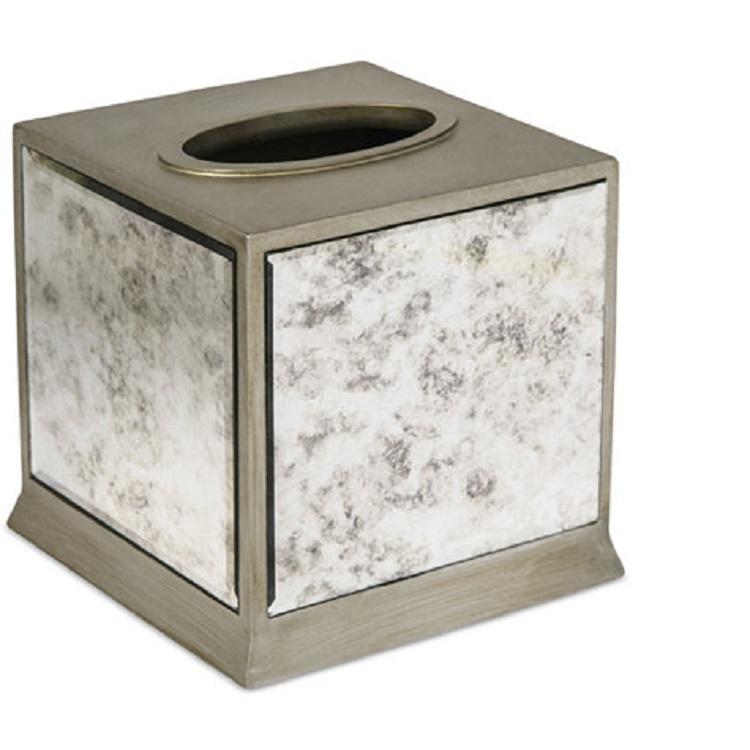 Home Decor Shinny Mirror Resin Bathroom Accessories Tissue box Set Tissue Cover