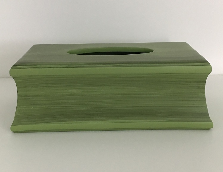 Wholesale Green Square Customize Polyresin Tissue Paper Box Covers