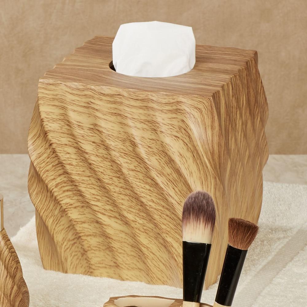 Wood Texture Stylish Polyresin Hotel Bathroom Set