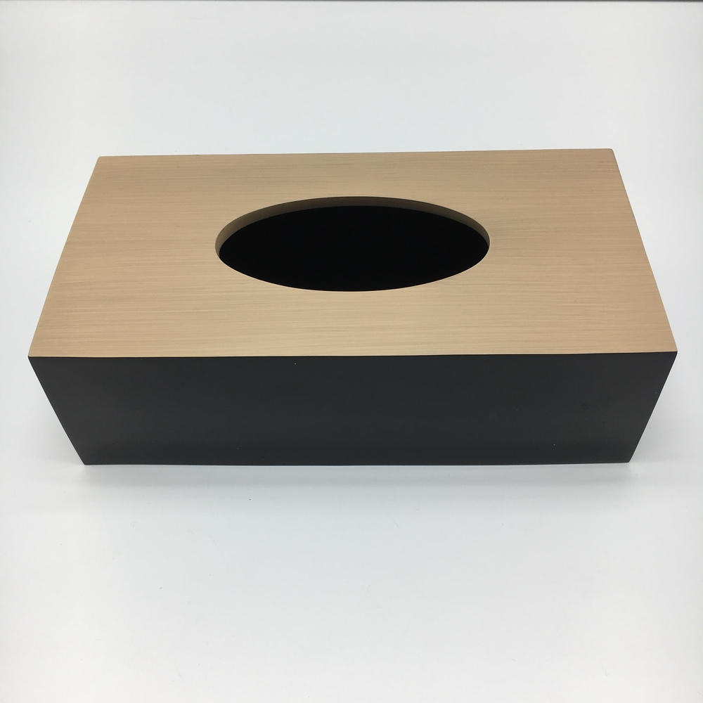 Black Hotel 100% Polyresin Tissue Box With Base