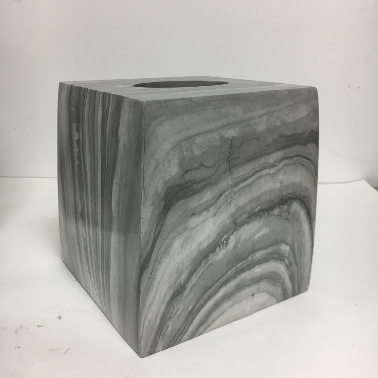 Novelty Marble Resin Bathroom Home Decorative Tissue Boxes