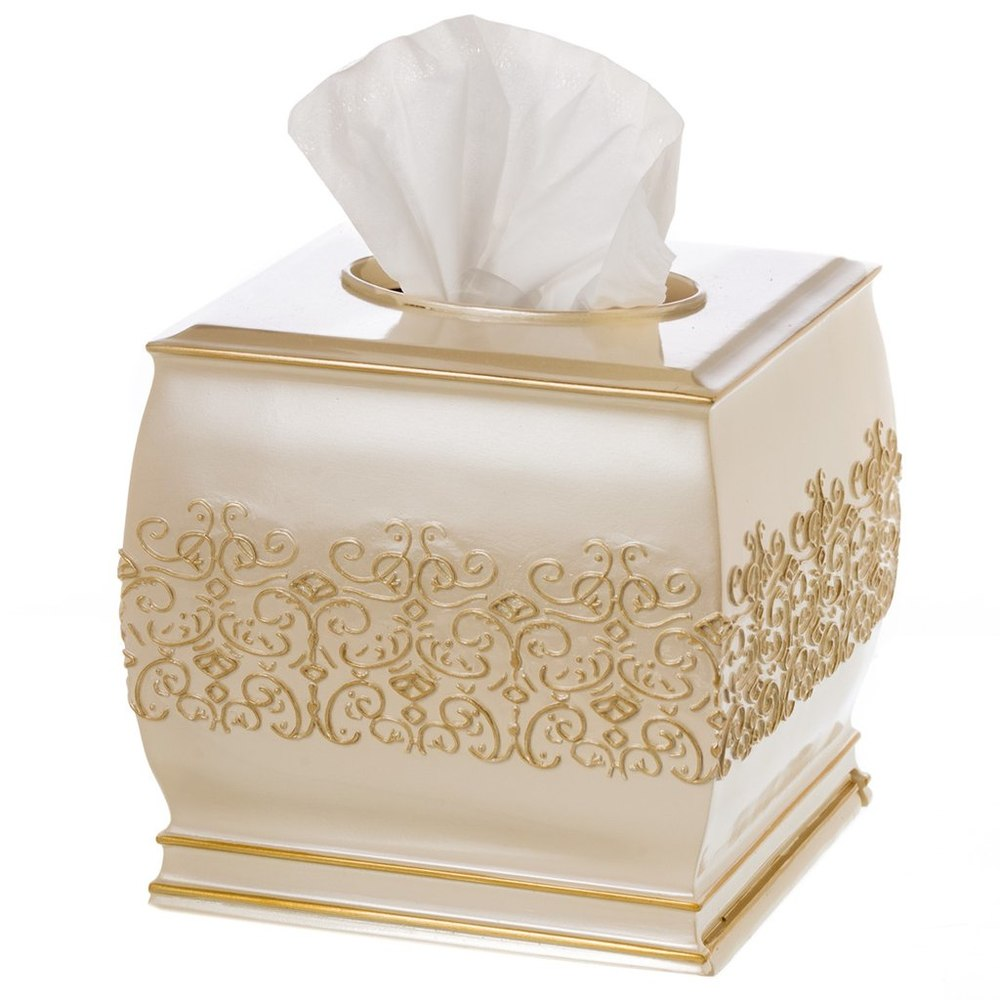 Royal Gold Resin Home Decorative Tissue Box Cover