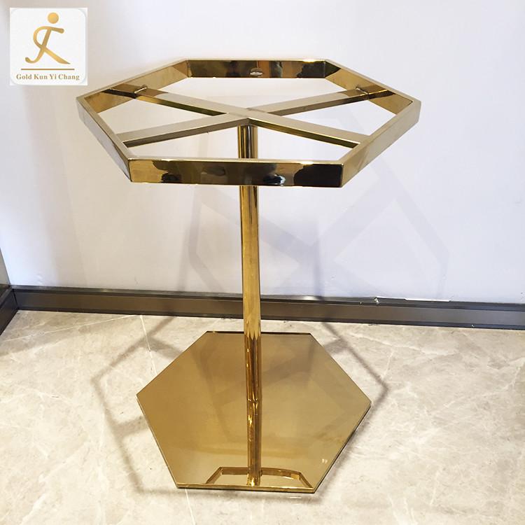 bespoke Modern Design Polygon coffee table metal stainless steel base metal legs for furniture