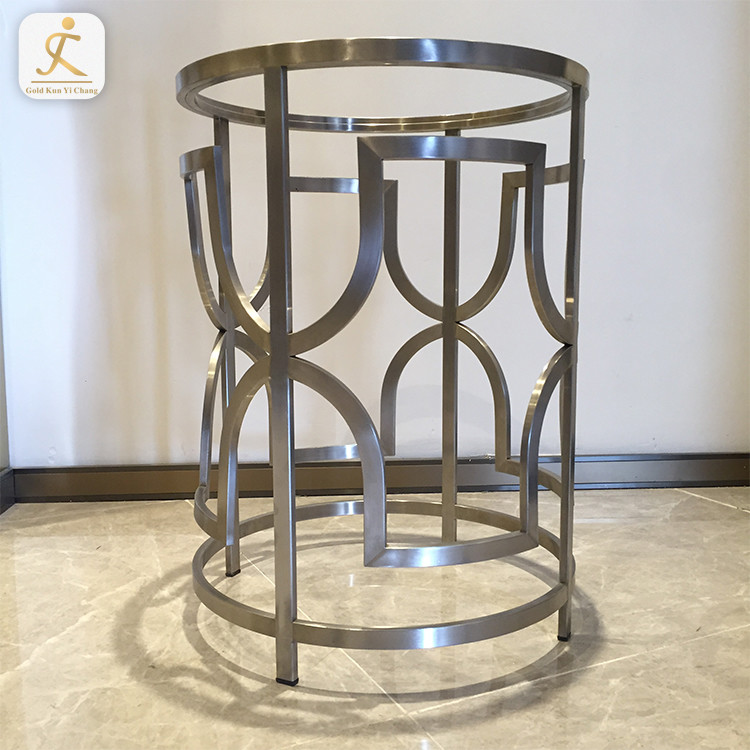 custom special design modern stainless steel furniture gold table leg metal base for office table coffee mirror gold based