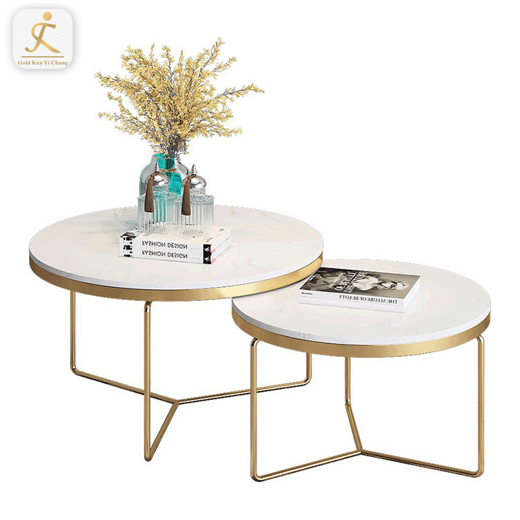 modern coffee table stainless steel gold tea table marble top stainless steel leg center table for living room