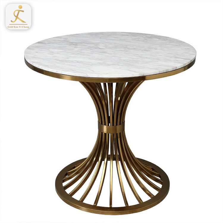 new design restaurant coffee dining table base custom shape gold brass stainless steel metal table base modern