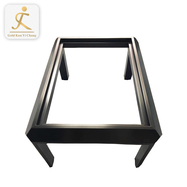 square shaped metal stainless steel coffee table base legs for glass table unique modern patio small dinning table legs
