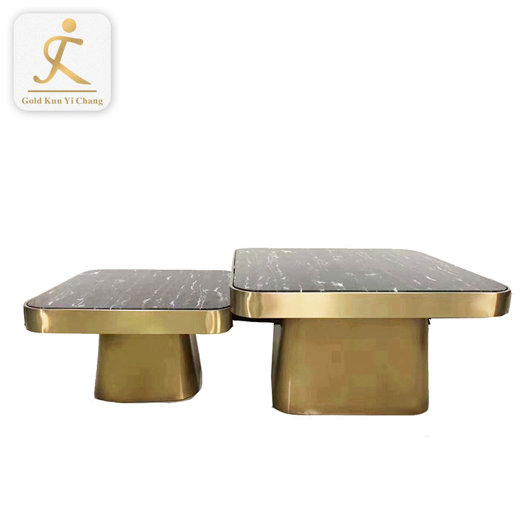 modern design polished coffee table frame leg modern square metal table legs Japanese SS tea stone table leg