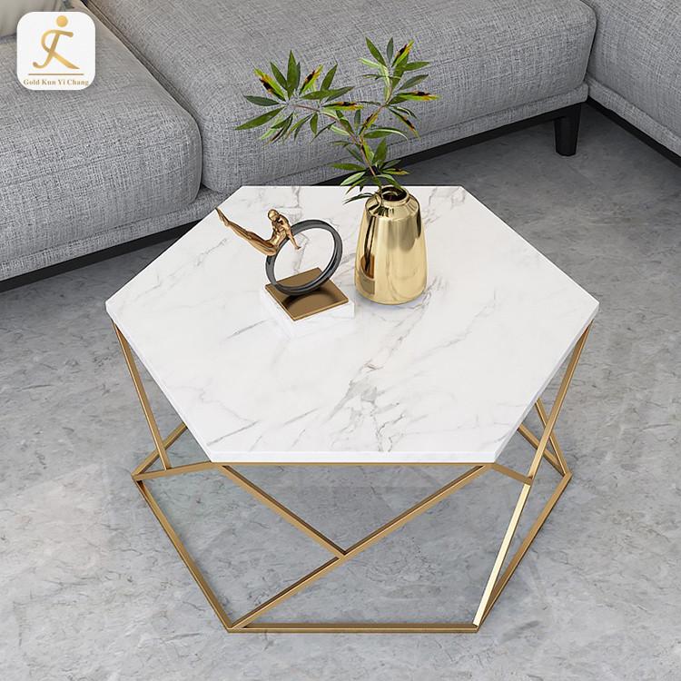 custom New design metal tea table frame for furniture stainless steel table leg gold brush metal coffee table base