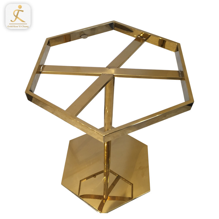 Stainless Steel Table Legs Cheap Price Modern Furniture Table Base Dining Hexagon metal bench stainless steel coffee table legs