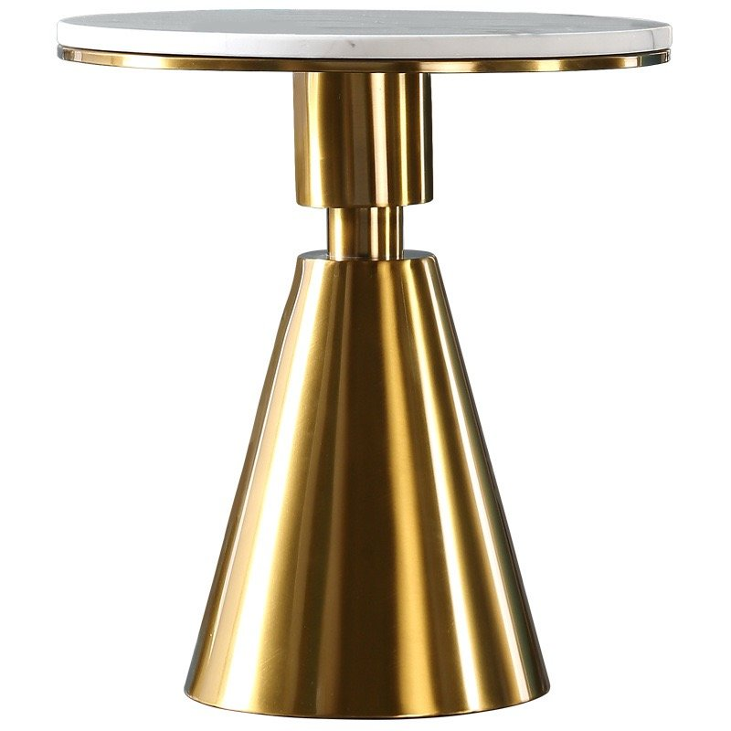 customized Modern design gold with marble table top metal tea table frame round coffee stainless steel table