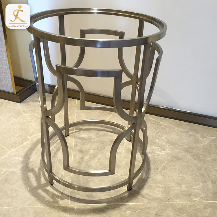 stainless steel table base Rose Gold metal leg for furniture round top metal stainless steel restaurant table leg base
