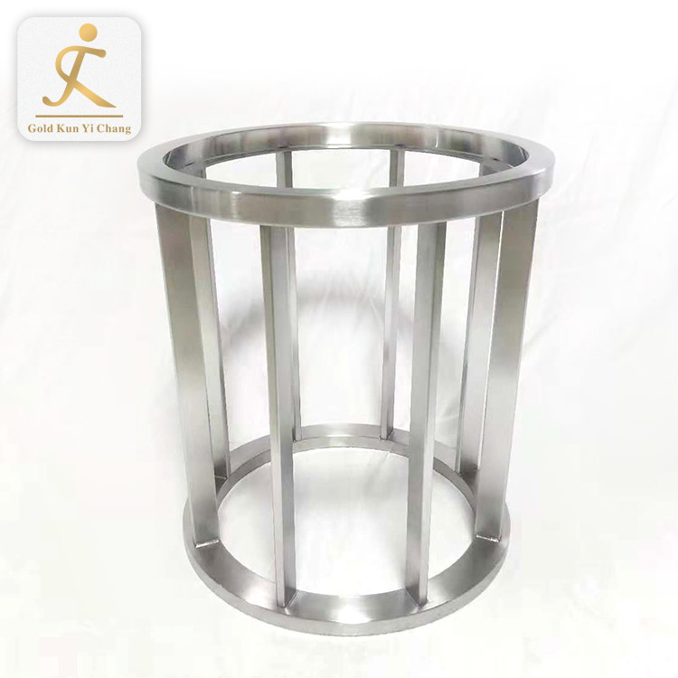 Bases de metal para mesas glass office table sliver metal legs stainless steel bent metal table legs