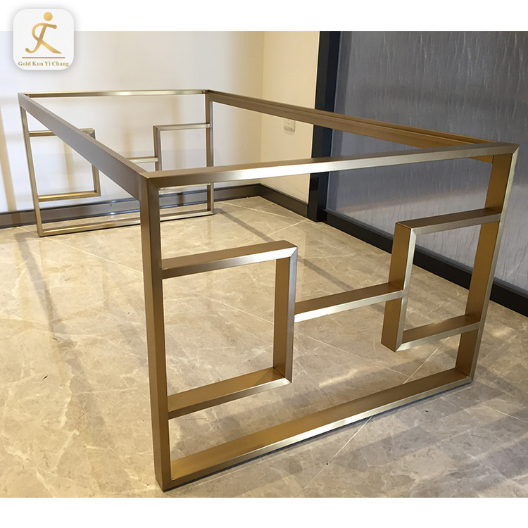 modern furniture parts stainless steel table high quality OEM customized laser cutting metal stainless steel dining table base