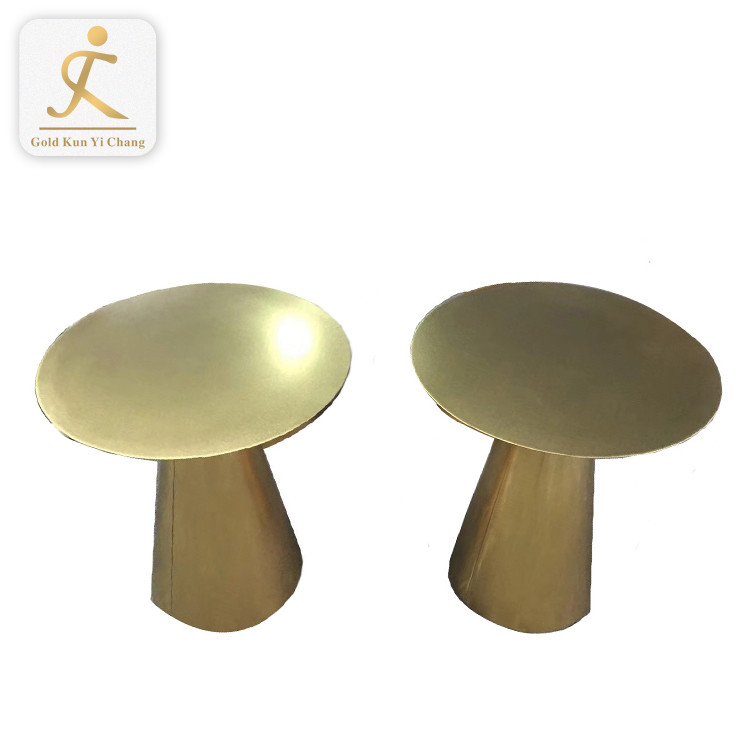 Stainless steel furniture legs table base gold color table bases round metal base for table