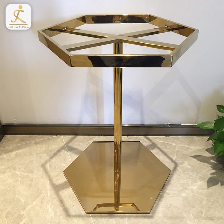 Table Frame Movable Restaurant Dining Pedestal Feet Coffee Table Base Legs Stainless Steel Dining Metal Table Furniture Frame