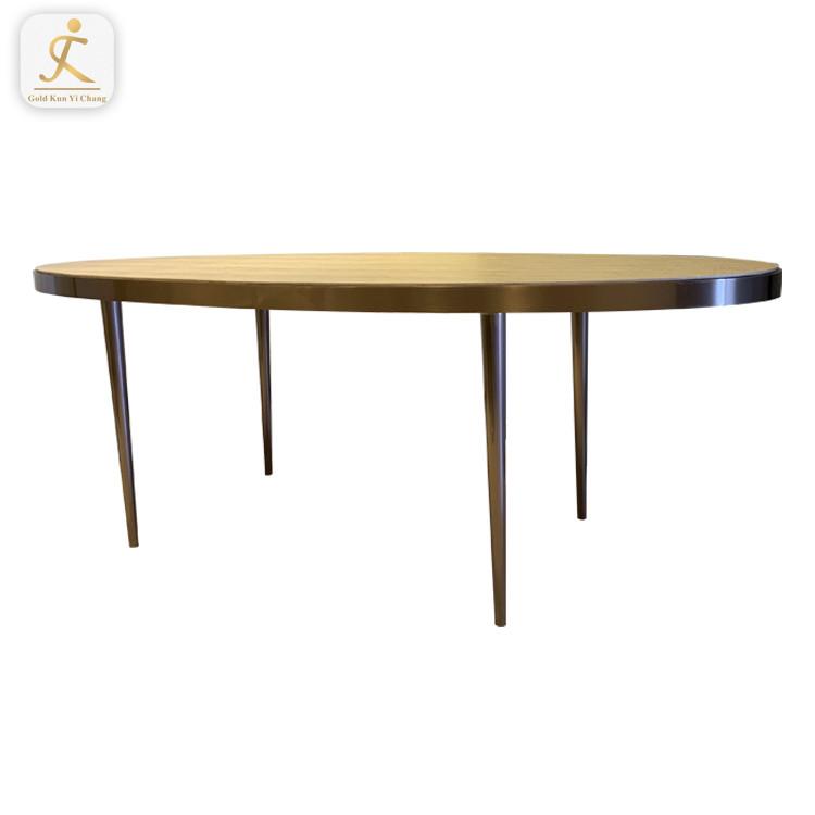 Custom modern Wholesale price Hotel furniture metal leg tea stainless steel table base Living room big coffee table frame