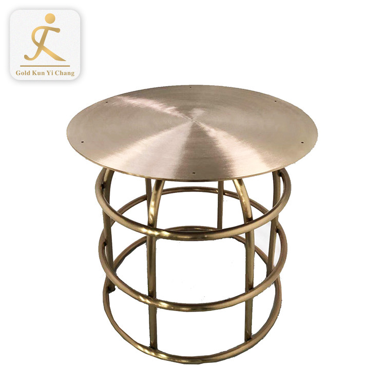 satin metal office waiting room furniture inox table leg round steel restaurant fiberglass table legs