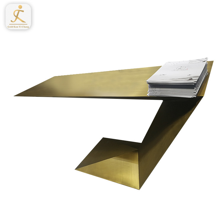 luxury furniture brushed gold hallway console table high end customized unique design stainless steel console table
