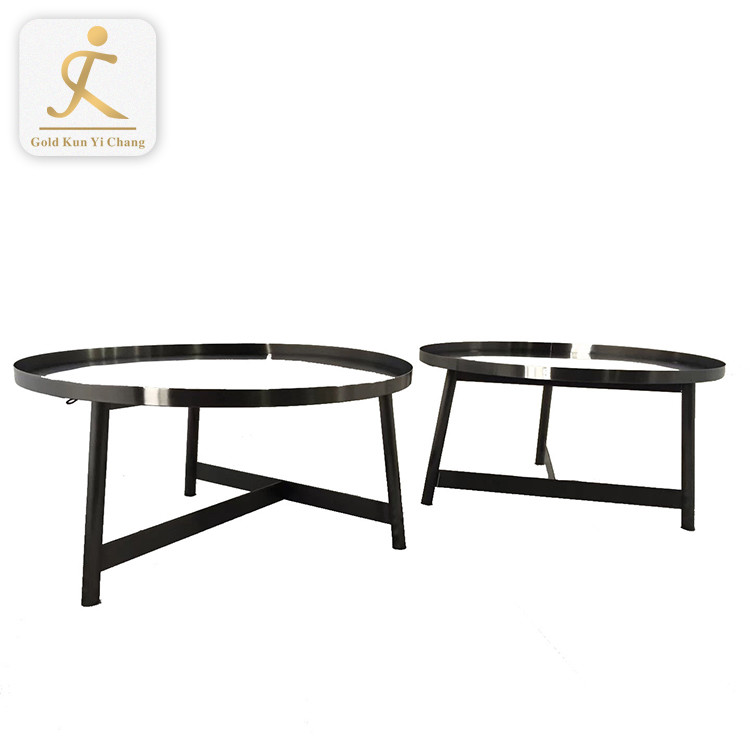 living room polishing golden metal pedestal round tea table legs stainless steel leg for round coffee table