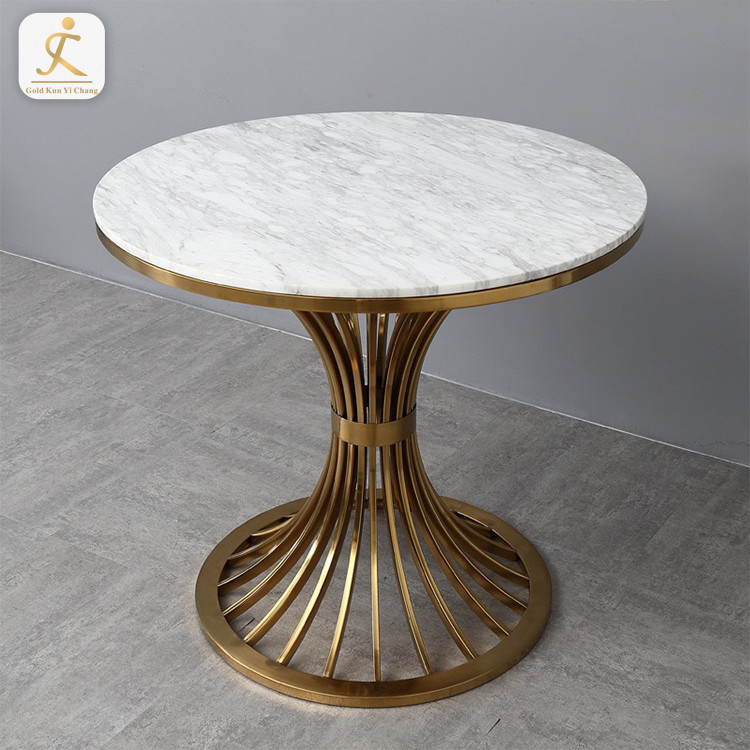 modern unique shape coffee table base stainless steel golden custom design small coffee corner table base
