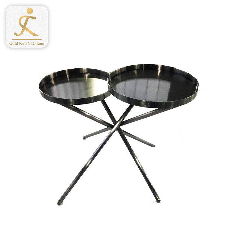 modern polished round metal coffee table base metal x shape office lucite table legs metal desk legs