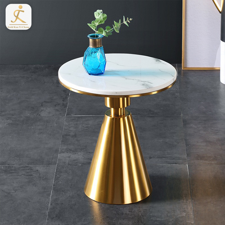 custom Gold modern round coffee steel table legs metal table frame for furniture decor stainless steel table base
