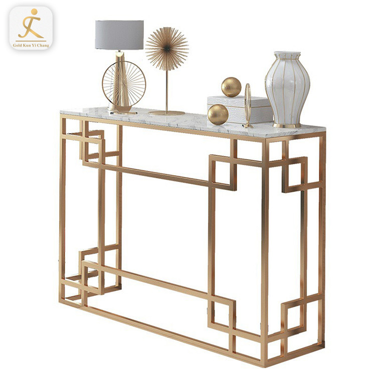 brush gold corner console table leg base stainless steel decorative console inox table base