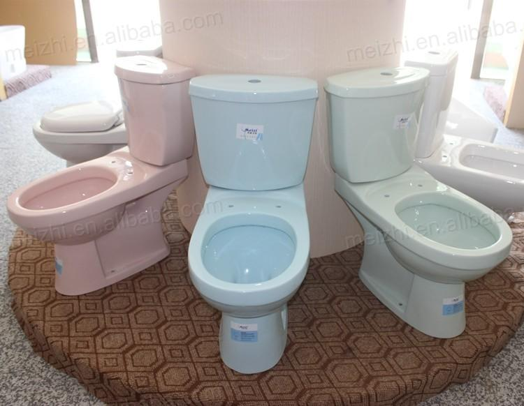 Bathroom sanitary washdown separated color s trap close coupled toilet