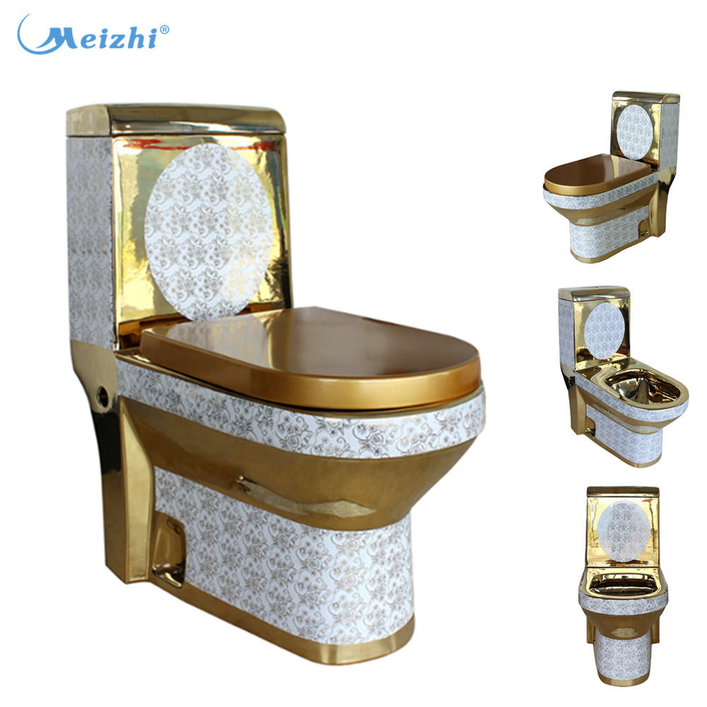 Alibaba supplier indian gold ceramic one piece color toilet
