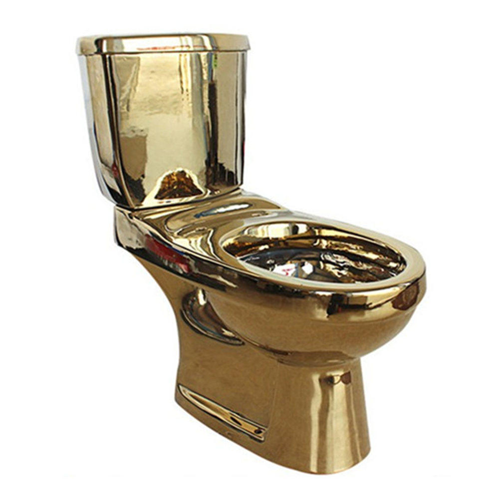 Chaozhou ceramic toilet bowl gold color