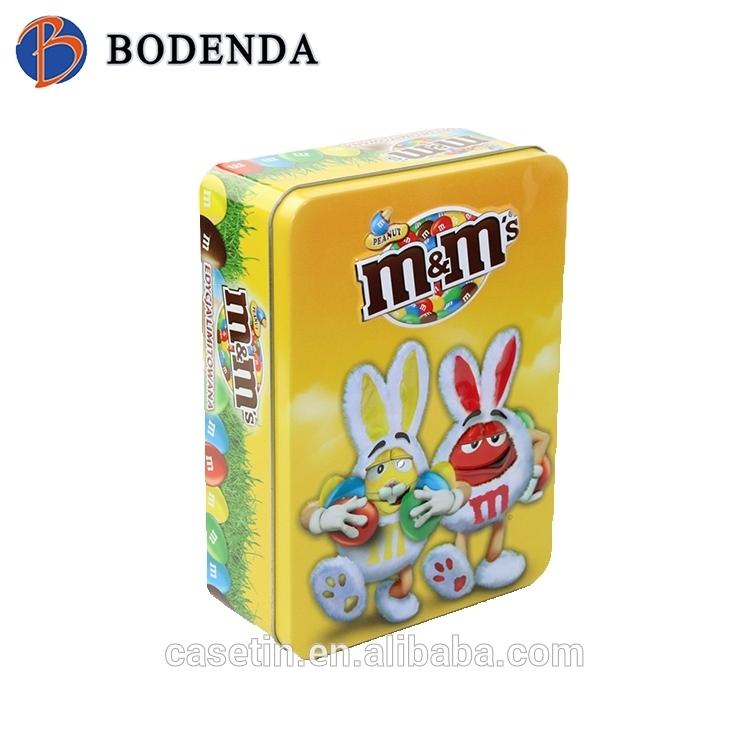 china manufacturing food grade tinplate metal candy packing box
