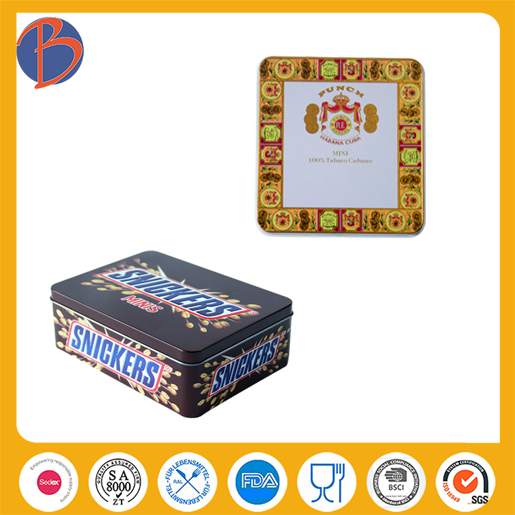 chocolate plastic box packaging wedding chocolate tin box