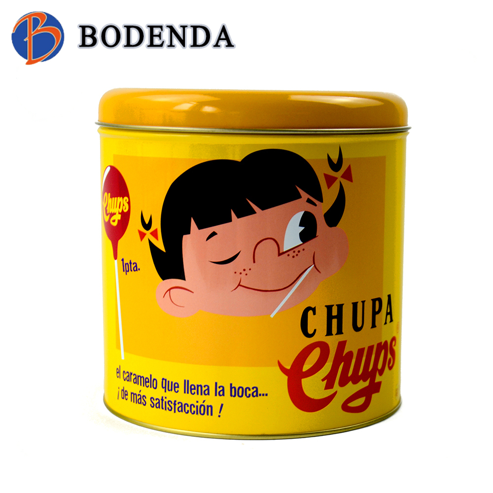 food safe pop-top candy tin can round shaped candy tins
