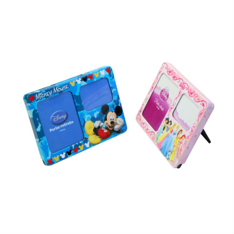 Metal Photo Frame Home Decorations Kids cartoon Picture Show Gift Photo Collection Sweet Tabletop