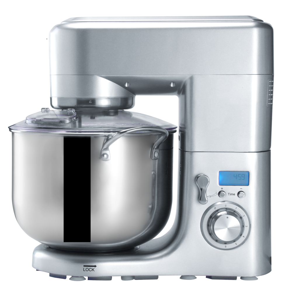 New kitchen stand mixer with stainless steel bowl
