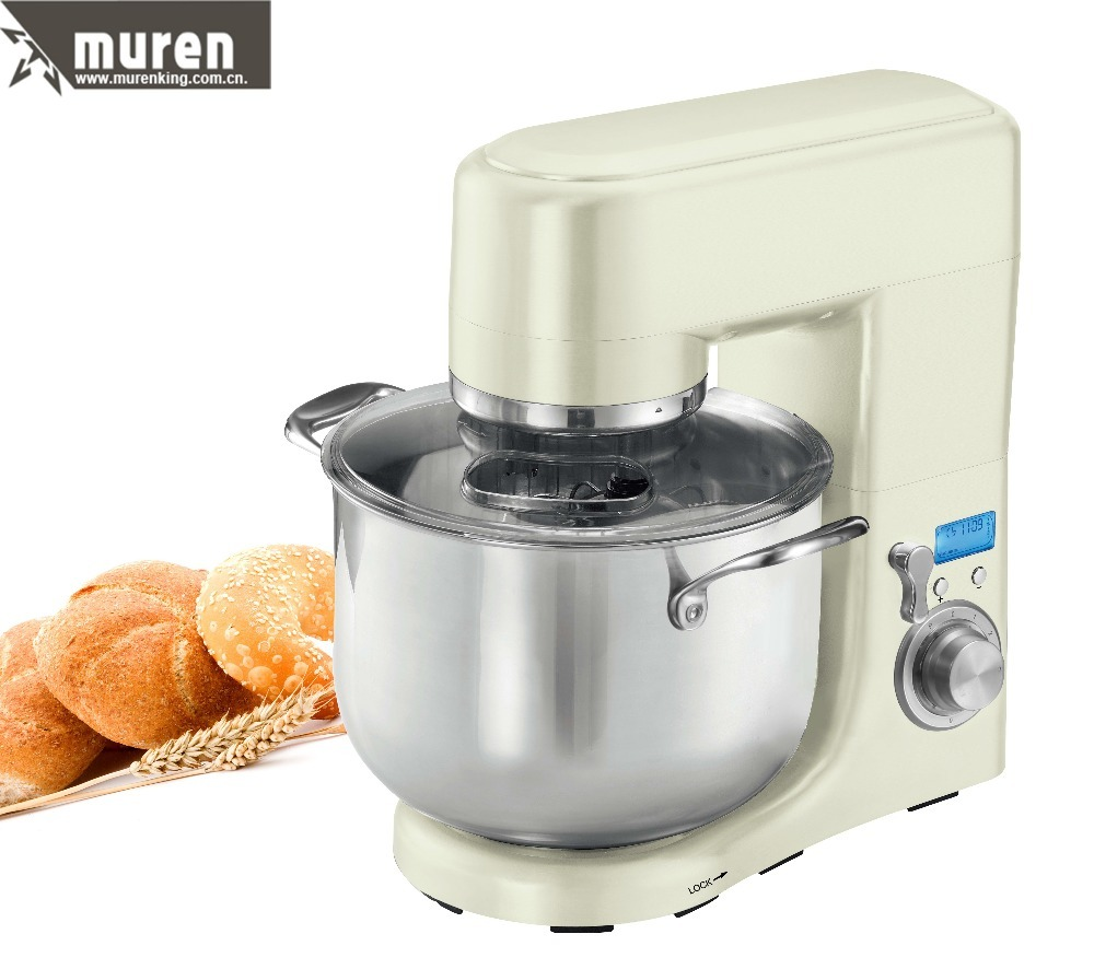 Stand mixer with 10L removable stainless steel bowl