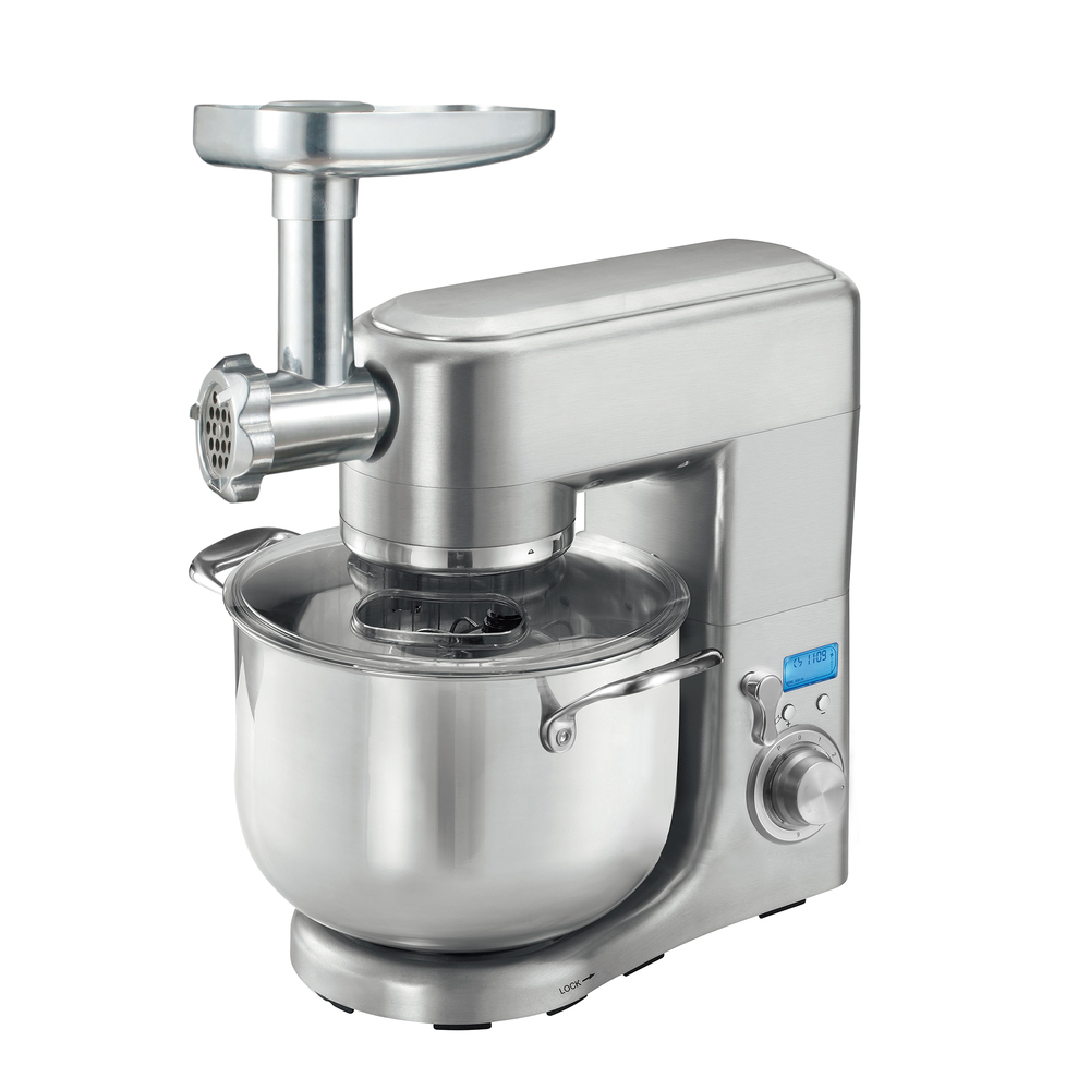 Professional kitchen stand mixer with meat grinder