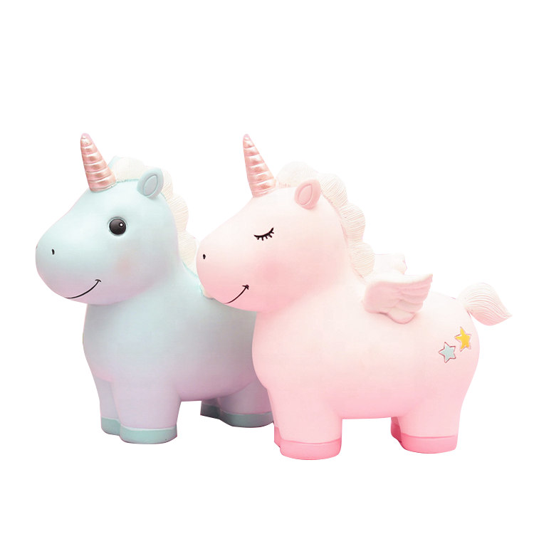 Big Size Resin Molds Adorable Unicorn Party Supplies Unicorn Money Box Piggy Bank For Girl Gifts