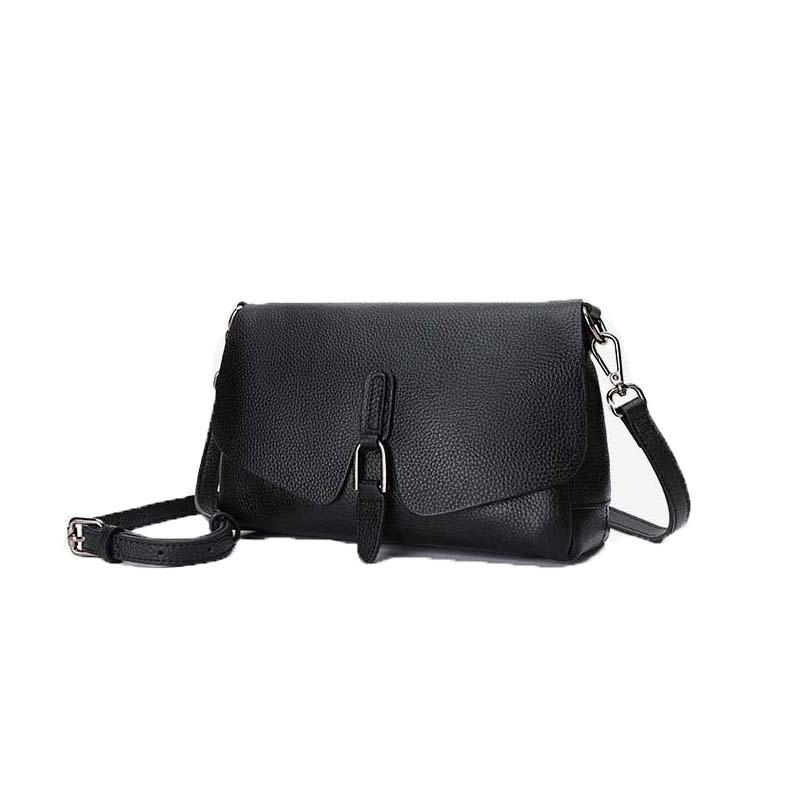 2020 women 100% genuine leather shoulder bag soft full grain natural cow leather cross body bag for lady with two shoulder strap