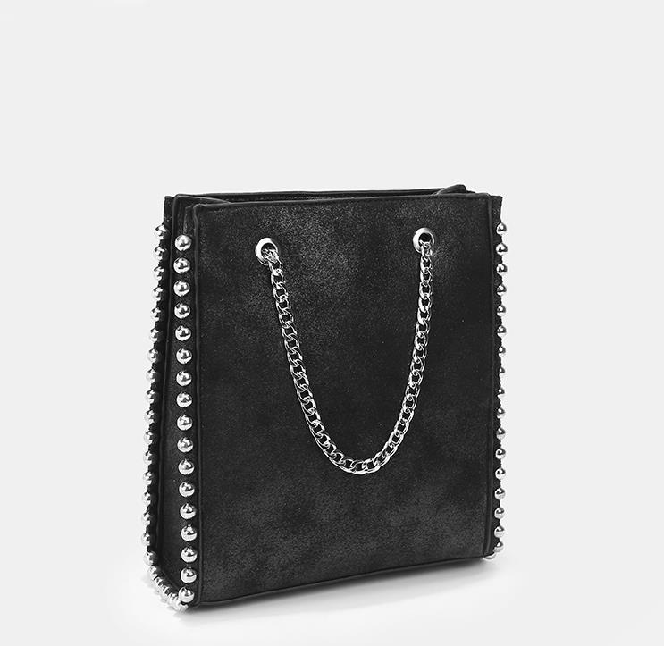 Large Capacity Tote Rivet Leather Bag Women Fashion Chain Rivet Bag Women Shoulder Bag